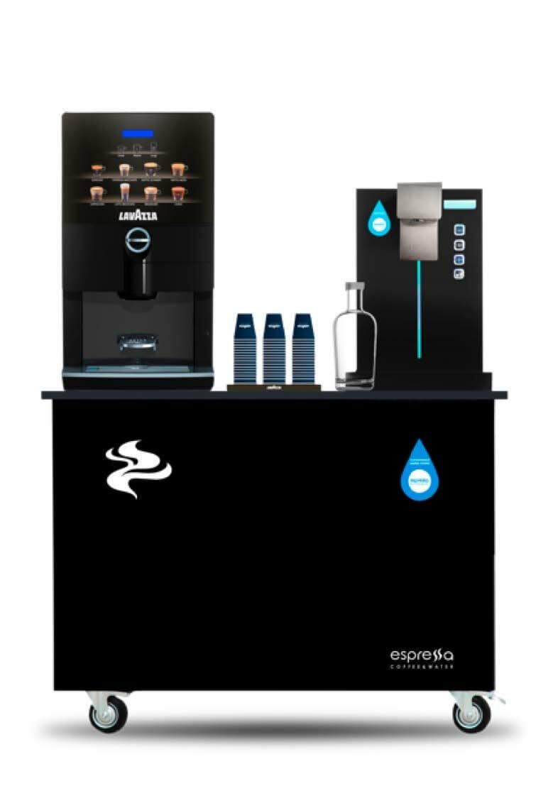 Corner agua y café