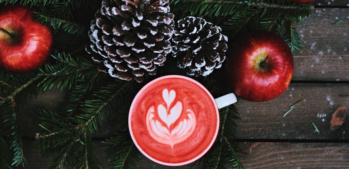 Café con leche de Navidad